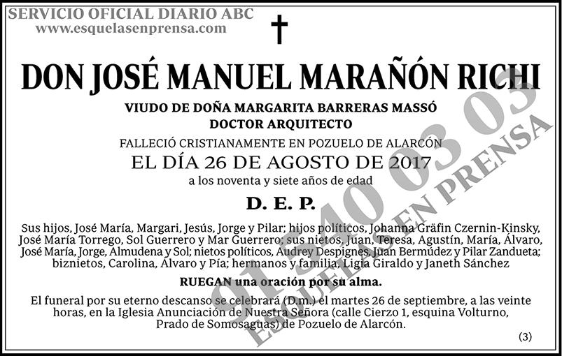 José Manuel Marañón Richi